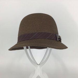 Goorin Bros. Lady Kari Brown Straw Cloche Hat, Med